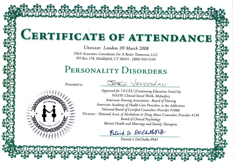 Certigicado-em-Personality-Disorders